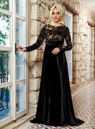 Laura Abiye Elbise - Siyah