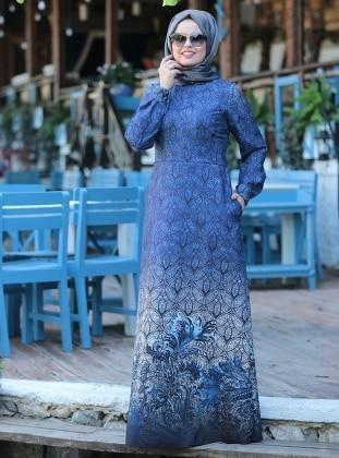 Ebruli Elbise - İndigo Saliha