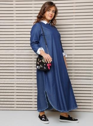 Plus Size Tunic - Blue - Alia 254025