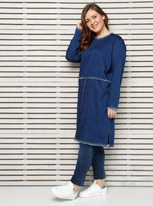 Plus Size Tunic - Blue - Alia 254017