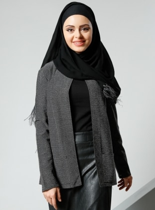 Cep Detaylı Ceket - Siyah Refka