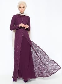 Muslim Evening Dress - Purple