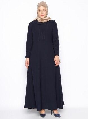 Bebe Yaka Elbise - Lacivert