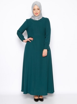 Bebe Yaka Elbise - Yeşil