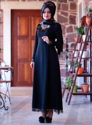Buse Elbise - Siyah