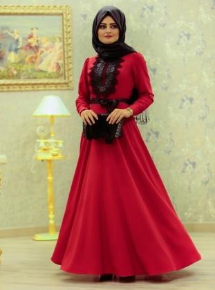 Nisa Abiye Elbise - Kırmızı