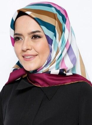Twill Eşarp - Karışık Renkli Bonjela