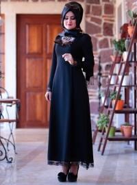 Buse Elbise - Siyah - SÜMEYRA AKSU GİYİM