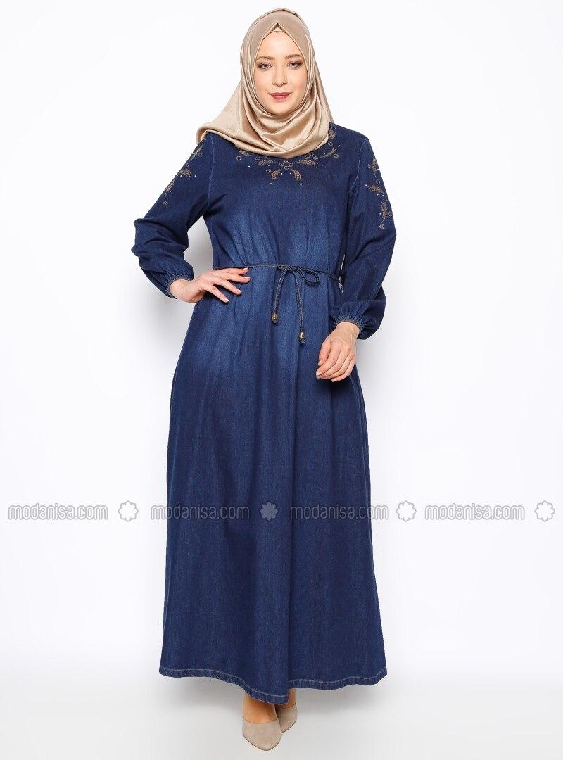 size dress - navy blue - ginezza