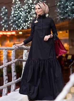 Oxford Elbise - Siyah
