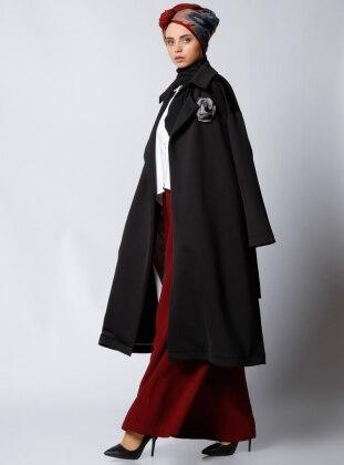 Al Tatari Şal Yaka Kap - Siyah