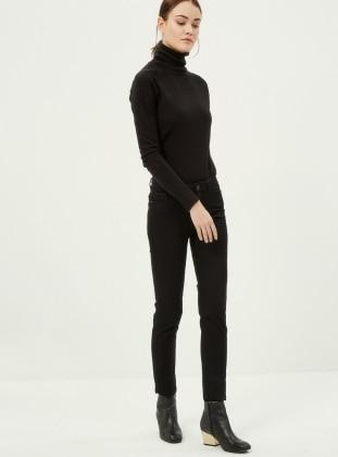Boru Paça Pantolon - Siyah