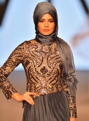 Ferya Abiye Elbise - İndigo