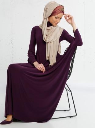 Salaş Elbise - Mürdüm