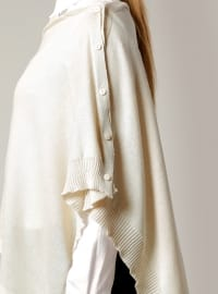 Plain - Beige - Cotton - Acrylic - Shawl -  Şal