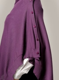 Acrylic - Cotton - Plain - Purple - Shawl -  Şal
