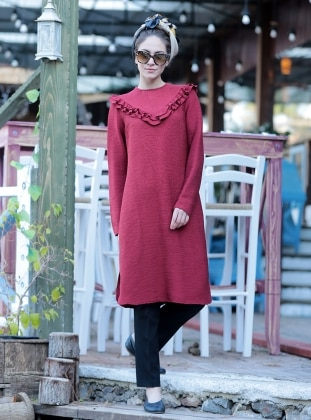 Tunic - Maroon - Minel Ask 261608