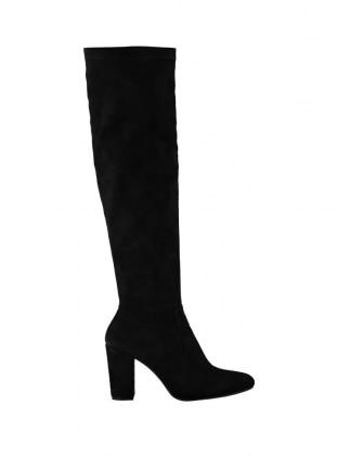 Diz Üstü Çizme - Siyah