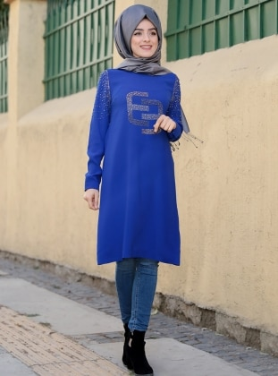 Saxe - Crew neck - Tunic - ZEVORA BY ZEHRACE