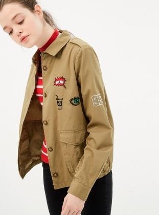 Armalı Ceket - Koyu Haki Koton