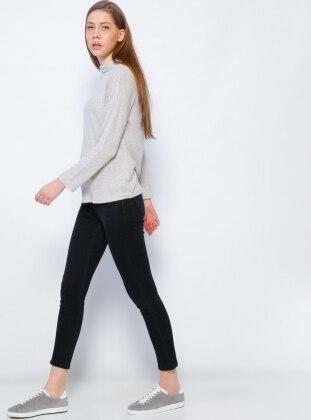 Kot Pantolon - Siyah Koton