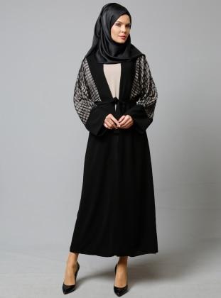 Mervin Abiye Ferace & Elbise İkili Takım - Siyah