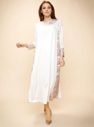Jakarlı Elbise - Lila