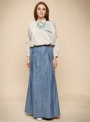 Blue – Fully Lined – Skirt – Anniesa Hasibuan