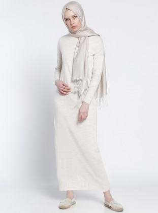 Everyday Basic Triko Tunik - Bej