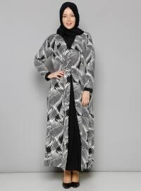 Desenli Elbise - Siyah - Metex