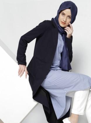 Şal Yaka Ceket - Lacivert