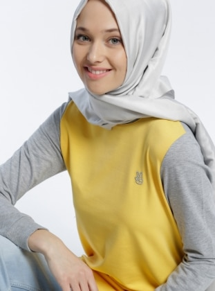 Garnili Tunik - Gri Sarı