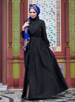 Blazer Elbise - Siyah