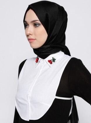Gömlek Yaka Boyunluk - Beyaz