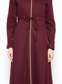 Purple - Fully Lined - Crew neck - Topcoat