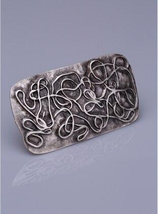 Gümüş Kaplama Mıknatıslı Broş - Gümüş Fsg Takı