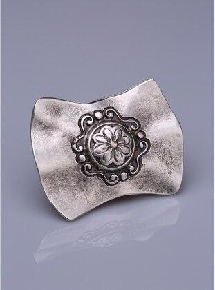 Fsg Takı Gümüş Kaplama Mıknatıslı Broş - Gümüş