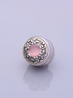 Pink - Silver tone - Scarf Accessory