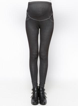 Hamile Tayt Pantolon - Siyah - Havva Ana