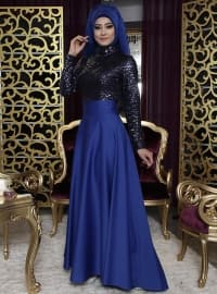Fully Lined - Saxe - Evening Skirt