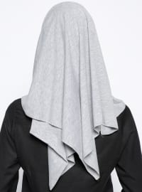 Gray - Plain - Cotton - Combed Cotton - Instant Scarf