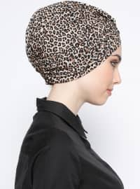 Cotton - Printed - Leopard - Brown - Combed Cotton - Instant Scarf