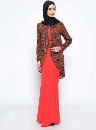 Elbise & Ceket İkili Takım - Kırmızı Mileny