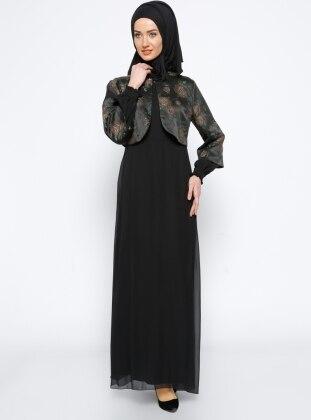 Elbise & Ceket İkili Takım - Siyah Mileny