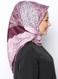 Purple - Printed - Rayon - Scarf