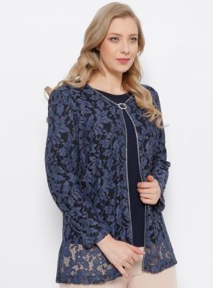 Ceket & Bluz İkili Takım - Lacivert