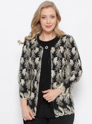 Ceket & Bluz İkili Takım - Siyah