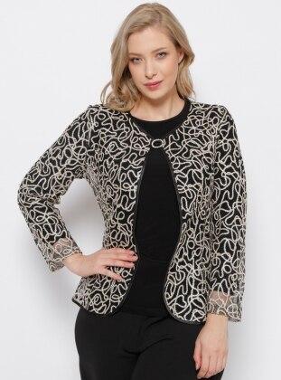 Ceket & Bluz İkili Takım - Siyah Gold