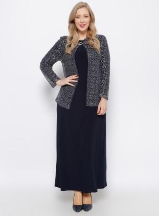 Ceket & Elbise İkili Takım - Lacivert Arıkan