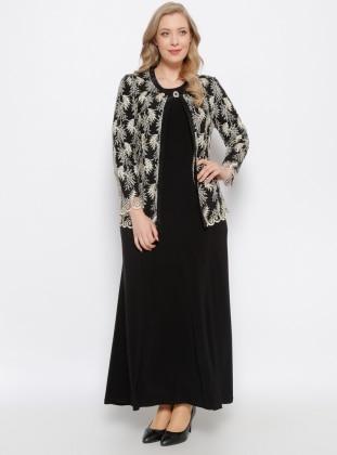Ceket & Elbise İkili Takım - Siyah Arıkan
